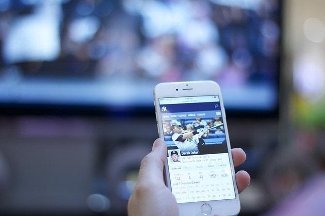 野球の画面