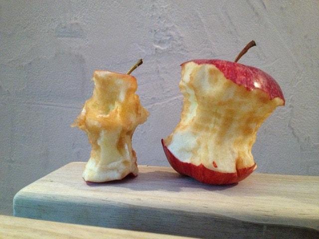 食べかけアップル