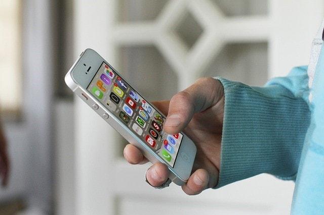 キーボードと携帯