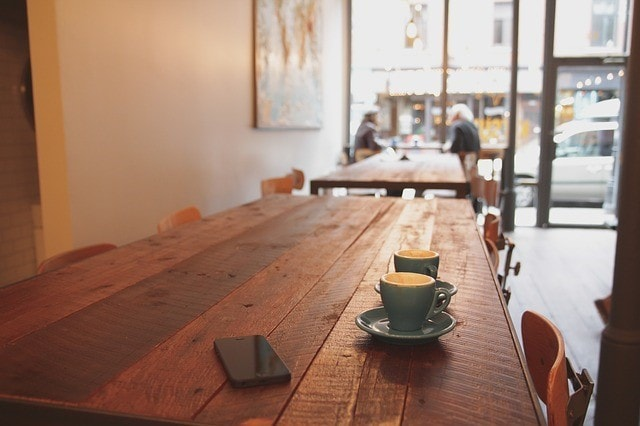 カフェでの様子