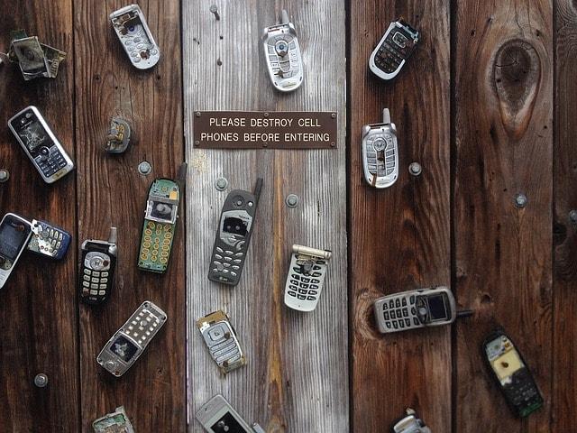 たくさんの携帯