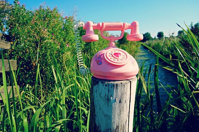 おしゃれな公衆電話